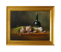 Garlic & Leeks, 13x18,( Sold)