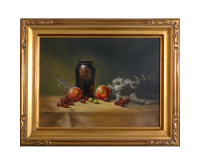 Jar with Nectarines, 12x16 (Sold)