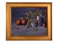 Pewter & Fruit, 11x14 (Sold)