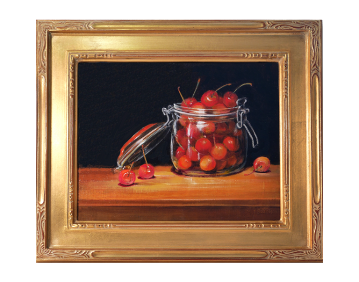 CHerries In Glass Jar